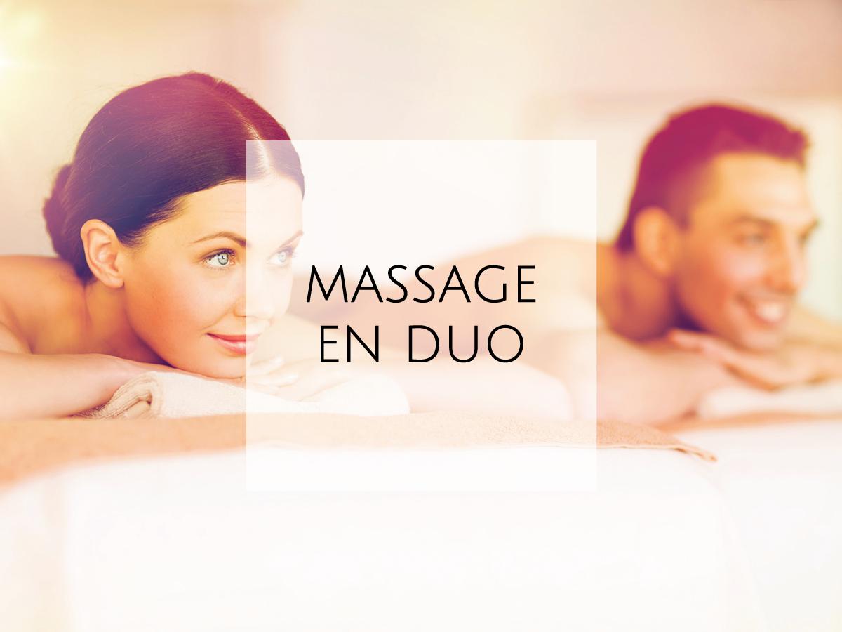 massage en duo dans notre Spa à Gordes